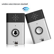 Wireless Voice Intercom Doorbell 2-way Talk 1 Indoor-bell &1 Outdoor-bell Home