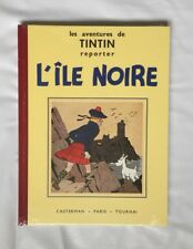 TINTIN L ILE NOIRE FAC SIMILE N&B / HERGE / BD EO 1987 / CASTERMAN / NEUF