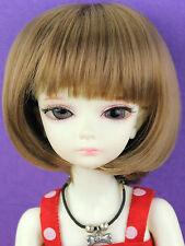 "WG5626 Brown 5-6"" BOB Wig for 1/8 BJD Lati Yellow Dollfie or Similar Size Doll"