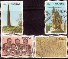 ZIMBABWE 1984 HEROES' DAY Sc#477/80 COMPLETE POSTALLY USED SET 1470