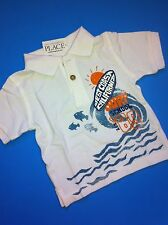 NEW Baby Boys Polo Dress Shirt 0-3 6 9 12 18 Months Surf Monkey Beach Gift 11.95