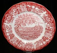 Royal Worcester PALISSY Avon Scenes ROT ~ Speiseteller 25cm / Teller Essteller