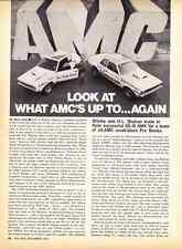 1971 AMC GREMLIN & HORNET - SHIRLEY SHAHAN DRAG RACING  ~  2-PAGE ARTICLE / AD