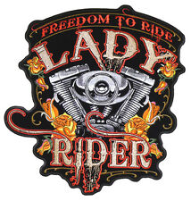 LADY RIDER ENGINE PATCH P4000 biker girl jacket  women novelty iron on heat sewo