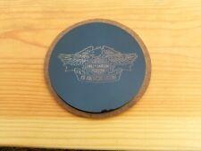 Harley Davidson Engraved Metal Emblem Gold Etching, Harley Plaque Coaster