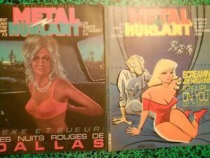 Lot 10  Métal Hurlant  88 à 97 (1983-1984) Dionnet Manoeuvre Moebius Hallyday