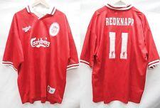 EPL Liverpool 1996-1997 Home Redknapp #11 Soccer Football Shirt Jersey
