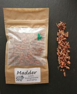 CraftyJam Madder Root Chopped Natural Dye Fabrics Red Orange 100% Biodegradable