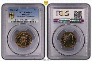 **2009-M Australian PCGS MS65 Citizenship $1 UNC**