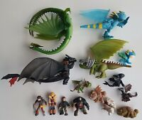 FIGURINES FIGURES LOT DRAGONS DREAMWORKS HEROIC FANTASY TOOTHLESS NO AD&D LOTR