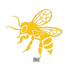 5 Yellow Bumble Bees and Hive Vinyl Car Decal