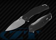 ZT0357 Zero Tolerance A/O CPM-20CV Working Blade Black G10 Handles Linerlock USA