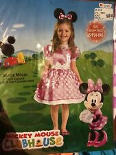 Nip New disney Minnie Mouse Girl Costume Dress Heab Piece Mickey Mouse Ears 4-6X