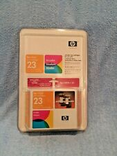 New TWIN Pack HP 23 Genuine OEM Ink Cartridge desk jet 710, 712, 720, 722, 810