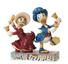 Disney Traditions Chiming in (Donald & Daisy Victorian) Christmas Figurine 27323