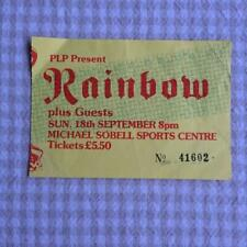 Rainbow Ritchie Blackmore  ticket Sobell Sports Centre 18/09/83