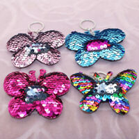 HN- CO_ Sparkling Butterfly Pendant Keychain Key Ring Holder Bag Hanging Decor S