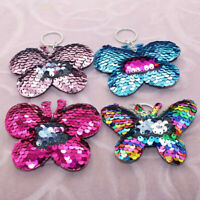 UK_ LT_ EE_ WO_ Sparkling Butterfly Pendant Keychain Key Ring Holder Bag Hanging