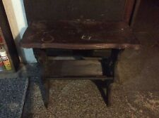 Vintage/Antique Side End Telephone Table Magazine/Newspaper Rack - Solid Wood