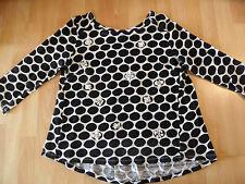 DIDI schöner Pullover creme schwarze Punkte mit Schmuckdetails Gr. XL? TOP SJ116