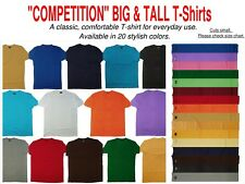 Big and Tall Solid Color T-Shirts - Sizes 5XL 6XL 7XL 8XL 9XL 10XL
