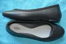 STYLISH Iconic Crocs! Comfort Shoes Black Bead Trim Slip on Size 9 NEW rrp$89.99