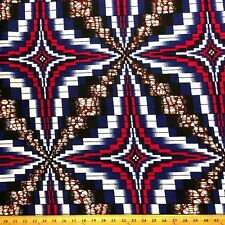 African Print Fabric 100% Cotton 44'' wide sold by the yard Shuriken (90115-2)