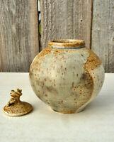 Studio Pottery Lidded Jar MCM Signed Ceramic Art Mid Century Modern Vintage Pot