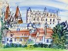 Framed canvas art print glicee Le Château de Loches