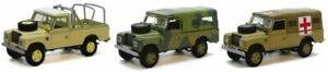 Land Rover Defender 3 Piece Set - Diecast Model 1:72 Scale - Cararama NEW