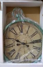 Creative co-op Pocket Watch Wall Clock. Aqua, Metal, approx. 19×24 inches $229