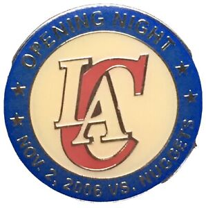 Los Angeles Clippers PIN Opening Night 2006 Nuggets NBA RARE Vintage Retro