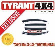 #2622017 Toyota Rav4 2013-2017 Tinted Weather Shields Window Visors Slim Line
