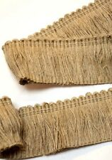 Jute HT1581 Natural Jute Brush Fringe Fabric Trim