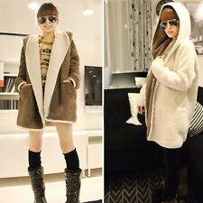 Vogue Women Ladies Cashmere Wool Long Winter Parka Coat Trench Outwear Jacket CA