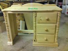 PINE FURNITURE BUCKINGHAM SINGLE PEDISTAL DRESSING TABLE NO FLAT PACKS