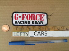 G-FORCE RACING GEAR EMBROIDERED CLOTH PATCH - SEW ON TYPE