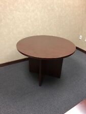 """42"""" Round Conference Table by Hon Office Furniture in Mahogany Laminate"""