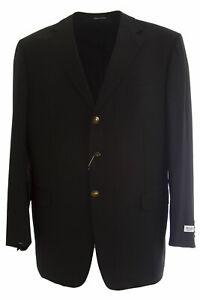 PAL ZILERI Black Wool Single Breasted Two Button Blazer 32F582 Sz IT 60L
