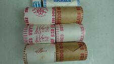Casino Token Roll  Lot of 6 Las Vegas casino rolls and extra Casino chips