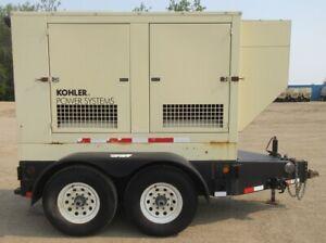 55 kw Kohler / John Deere Diesel Generator / JD Genset - 159 Hours - Mfg. 2007
