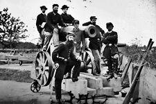 New 5x7 Civil War Photo: Officers of 3rd Massachusetts Artillery, Fort Totten