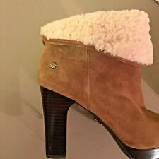 UGG 9 Australia Platform  heels Dandylion chestnut brown Shearling boots booties
