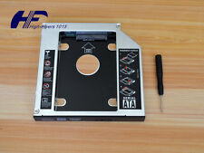 Universal 12.7mm SATA 2nd SSD HDD Hard Drive Caddy for CD/DVD-ROM Optical Bay US