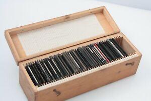 box of 46 assorted magic lantern slides uganda,verona,durston globe,france,