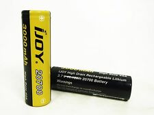 LOT OF 2, Ijoy 20700, 5 leg positive, 3000 mah rechargeable battery, 40 amp,