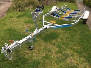 Precision Boat Trailer Drive On roller Galvanised 5.6mt with brakes