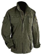 US Feldjacke Vintage Airborne Abzeichen oliv stone-washed NEU & OVP