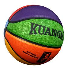 "Kuangmi Colorful Street Basketball for Teenager Child Kids Size 5(27.5"") balls"