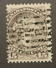 Canada #29b used 1868 Queen Victoria 15c lilac Large Queen